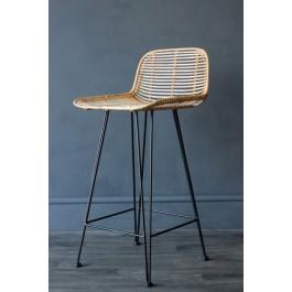 Remarkable Blonde Rattan Bar Stool Machost Co Dining Chair Design Ideas Machostcouk
