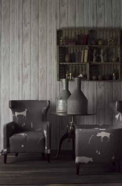 Andrew Martin Engineer Collection - Timber Wallpaper - Limed or White