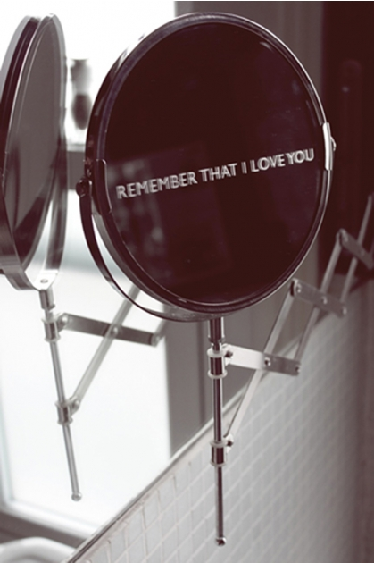 Etched Daily Reminder Shaving Mirror - Remember That I Love You