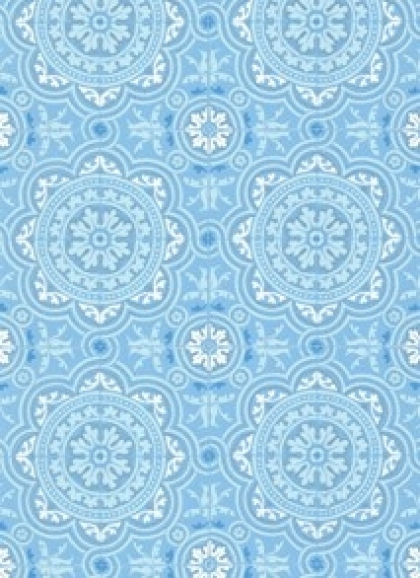 cutout Image of Cole & Son The Albemarle Collection - Piccadilly Wallpaper - Soft Blue on white background