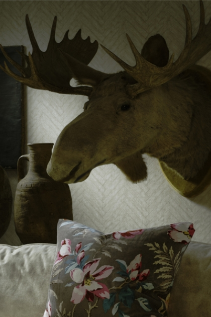 Andrew Martin Attic Collection Parquet Wallpaper - 4 Colours Available