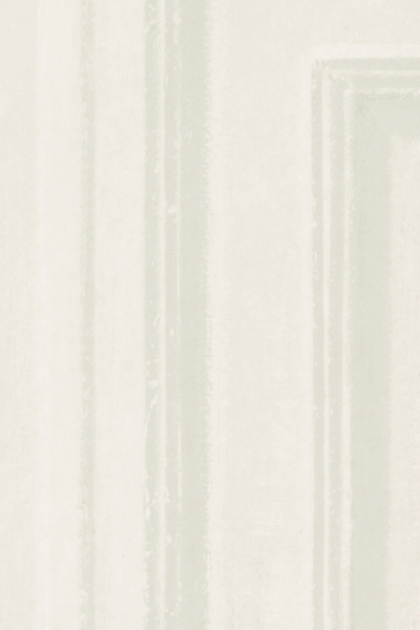 Close-up detail image of the Andrew Martin Attic Collection Trianon Wallpaper - White white and grey striped pattern
