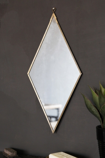 Strange Brass Effect Diamond Shape Mirror Download Free Architecture Designs Osuribritishbridgeorg
