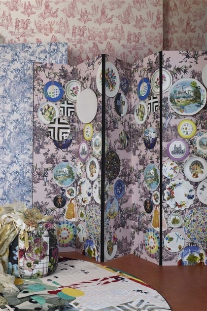 Christian Lacroix Au Thèâtre Ce Soir Collection - Folie Myrtille Wallpaper