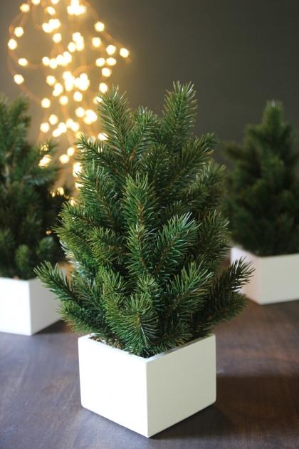 Faux Miniature Pine Tree