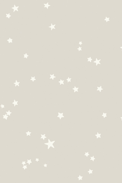 detail mage of Cole & Son Whimsical Collection - Natural Stars Wallpaper - 3 Colours Available small white stars on natural background