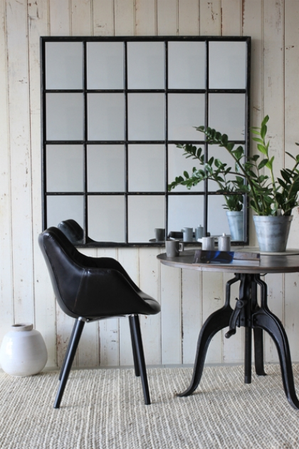 crittall window style mirror rockett st george. Black Bedroom Furniture Sets. Home Design Ideas