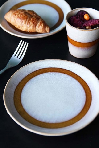 Earthenware Ceramics Snow Dessert Plate