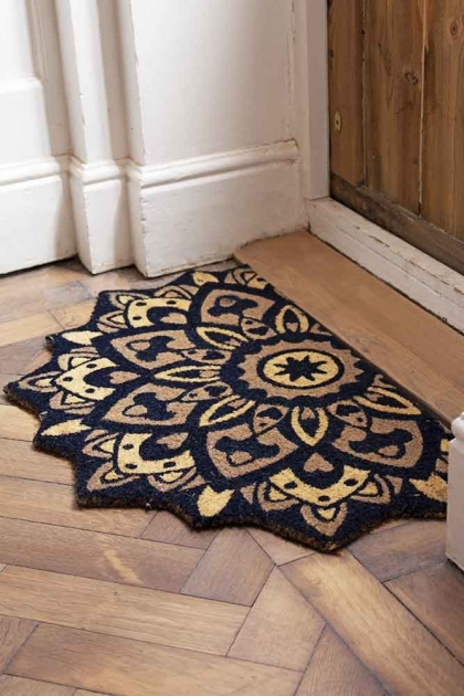 Lifestyle image of the Mandala Pattern Doormat