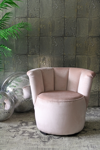 Gallery Velvet Cocktail Chair - Blush Pink