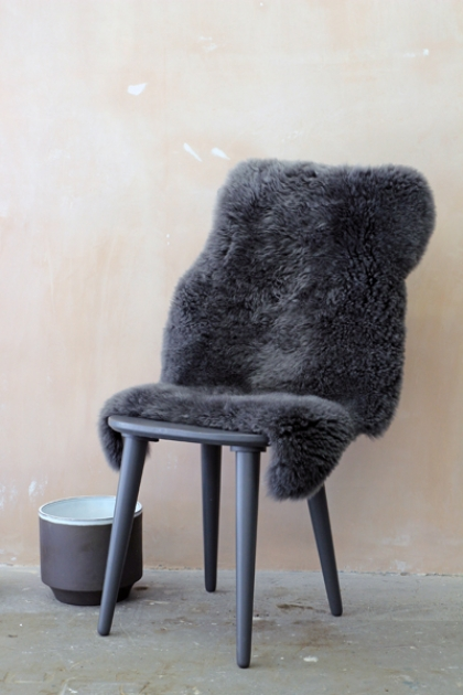 Genuine Sheepskin Rug - Silky Dark Grey