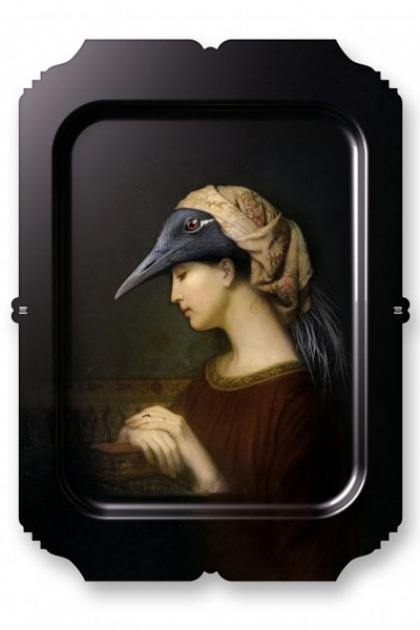 cutout image of Ibride Animal Tray - Galerie De Portraits Rectangular Tray- Alma on white background