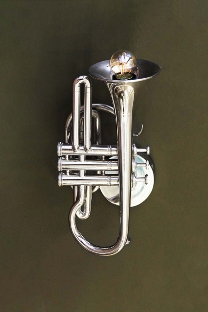 Jazz Trumpet Wall Light