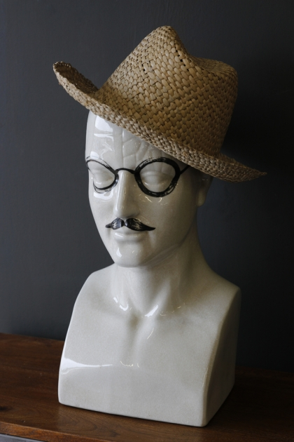 Ceramic Modern Phrenology Head - Tash and Specs - Large