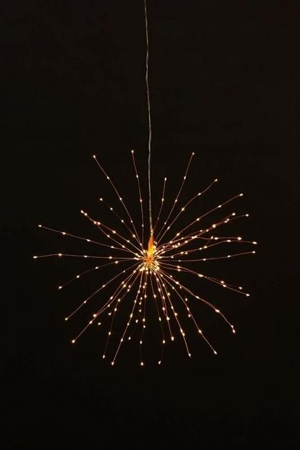 Large Pretty Wire Starburst Light Copper