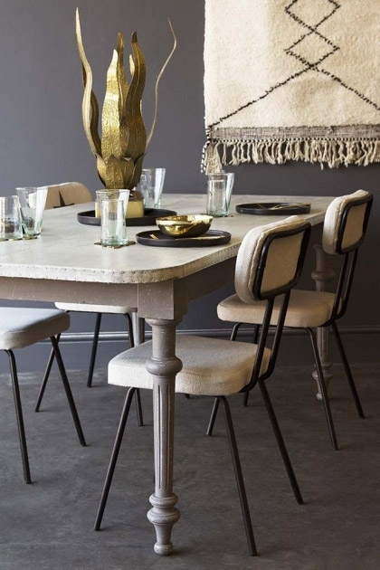 Large Zinc Dining Table