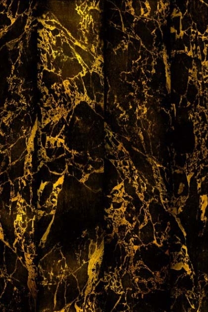 detail image of NLXL PHM-70 Black Metallic Marble Wallpaper By Piet Hein Eek black and gold marble effect pattern