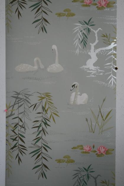 Nina Campbell Swan Lake Wallpaper