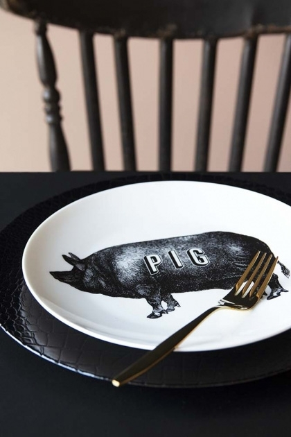 Pig Fine China Plate