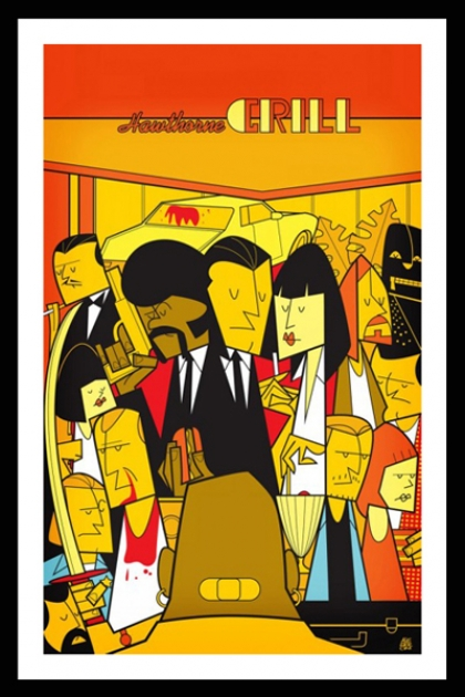 Unframed Pulp Fiction Fine Art Print