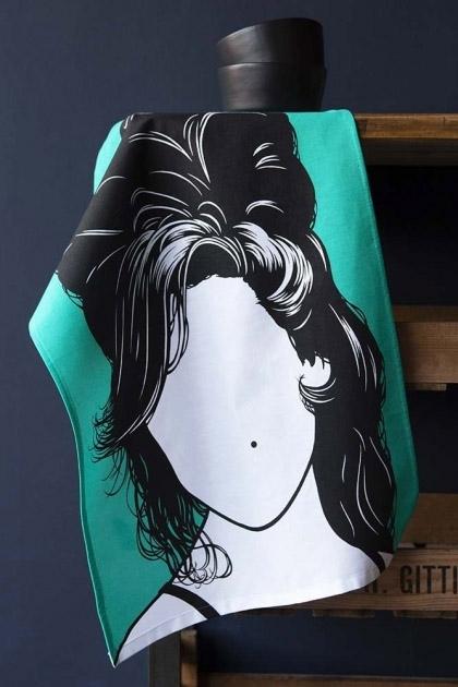 Rock Icon Tea Towel - Amy Winehouse