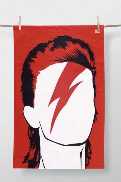 Rock Icon Tea Towel David Bowie Rockett St George