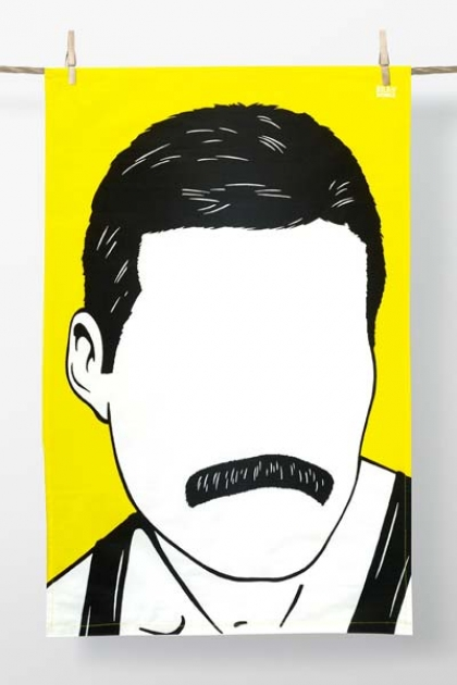 Rock Icon Tea Towel - Freddie Mercury