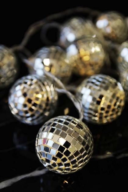 Disco Ball LED Light Chain