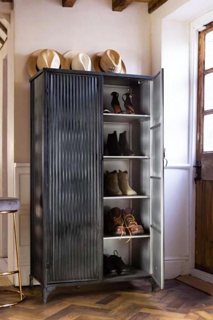 Black Industrial Fine Corrugated Cabinet