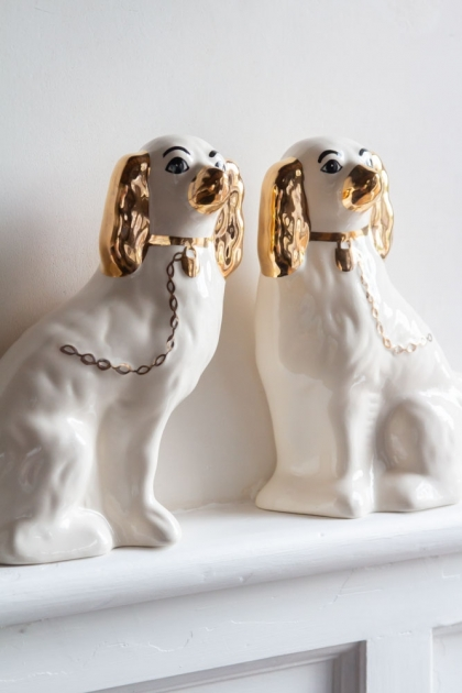 Image of both the Hand Painted UK Made Cavalier King Charles Spaniel Dog Coin Banks