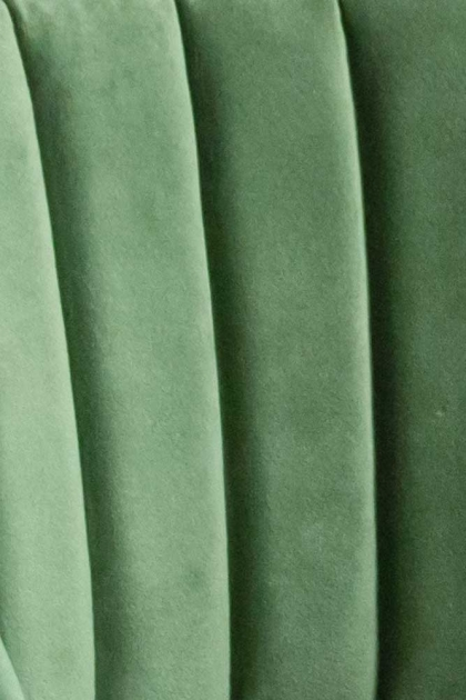 Image of the Moss Green Sample For Curved Back Velvet Dining Chair In Moss Green