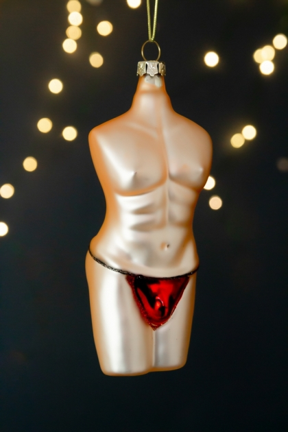 Image of the Male Burlesque Christmas Tree Hanging Bauble