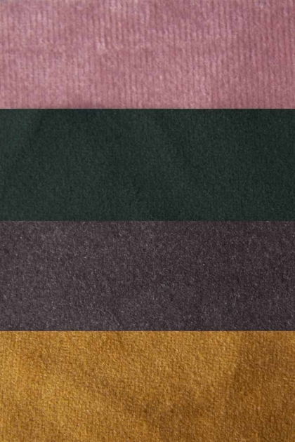 Close-up image of the colours provided in the Easy Elegance Velvet Swatch Pack