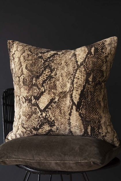 Rockett St George Sexy Snakeskin Velvet Cushion