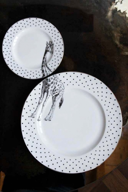 Image of the Giraffe Dinner & Side Plate Set