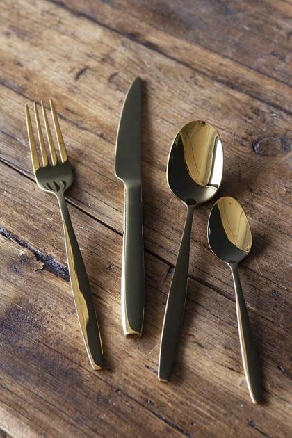 16 Piece Gold Cutlery Set