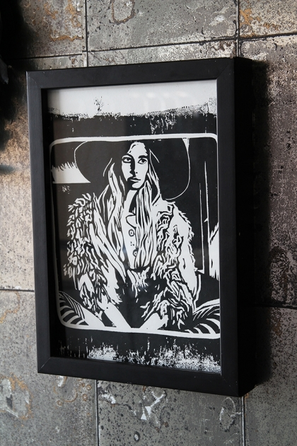Unframed Limited Edition Hippie Art Print by Anna Hayman