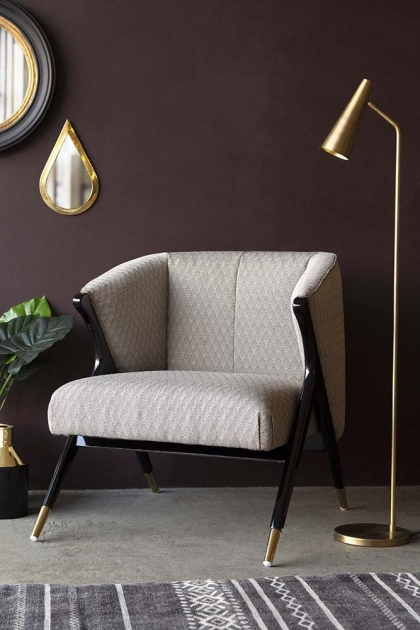 Lifestyle image of the Art Deco Style Armchair
