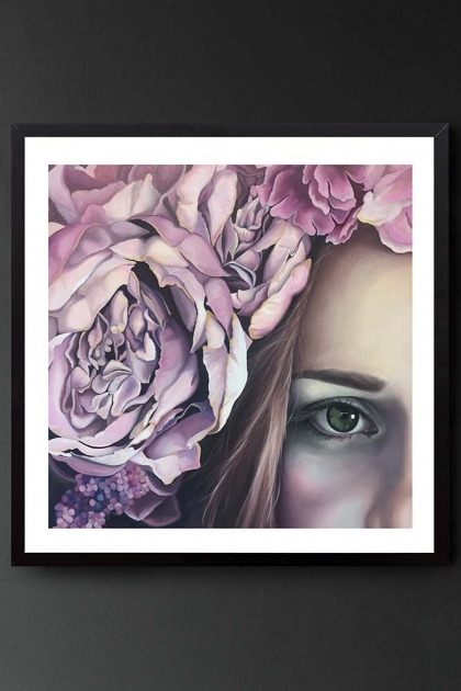 """Unframed Art Print by Amy Carter """"Come on babe, give us a smile"""""""