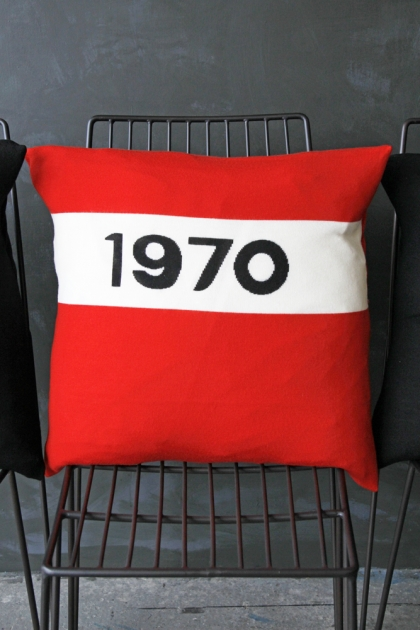 Bella Freud Merino Wool Cushion - 1970 Red