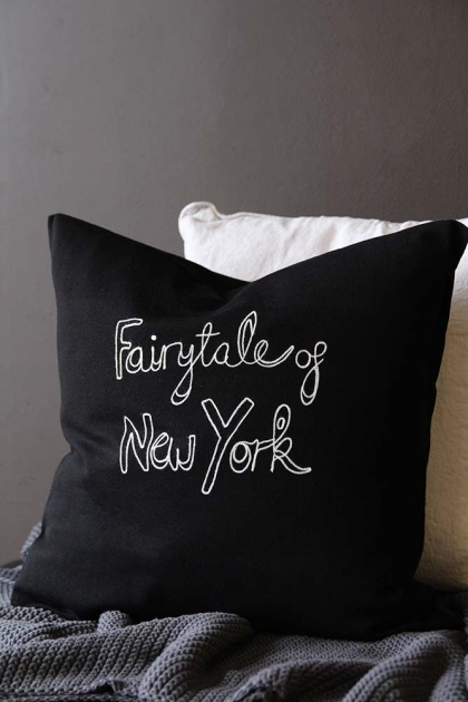 Bella Freud Merino Wool Fairytale of New York Cushion