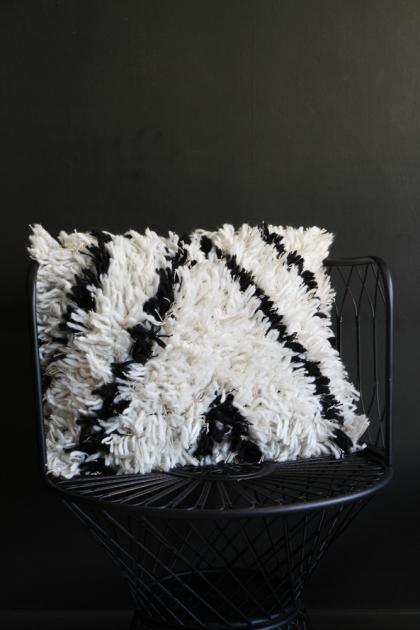 Black & White Wool Cushion