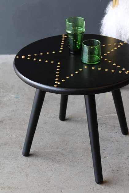 Black & Gold Star Studded Side Table