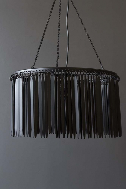 Metallic Fringing Chandelier - Black