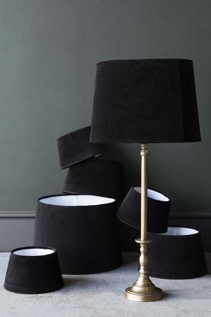 Black Noir Sumptuous Velvet Lamp Shade - Available in 3 Sizes