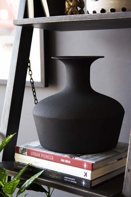 Black Powder Coated Decanter Vase