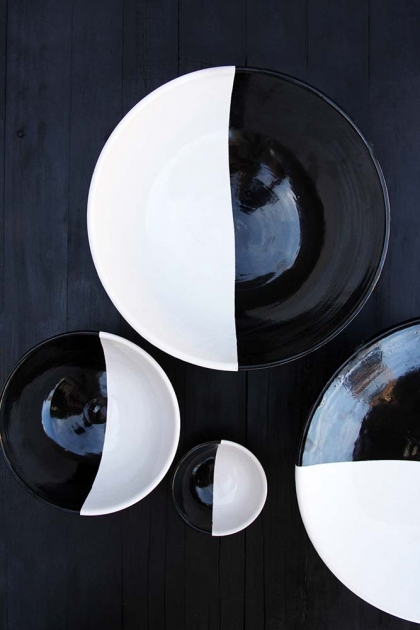 Handmade Moroccan Black & White Side Plate - 18cm