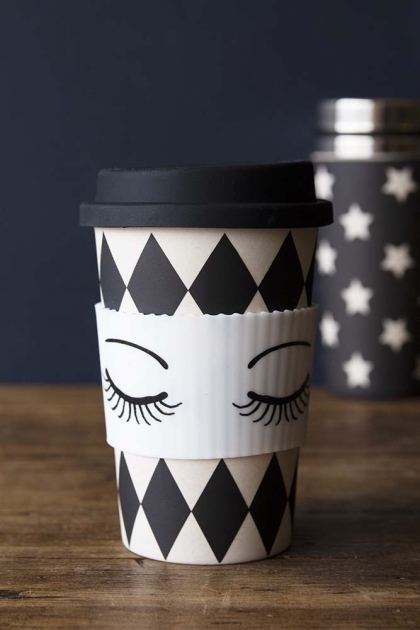 Sleeping Face Harlequin Reusable Coffee Cup