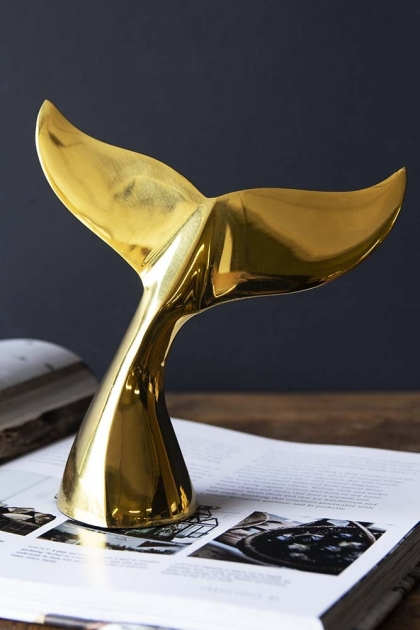 Golden Whale Tail Ornament / Paperweight