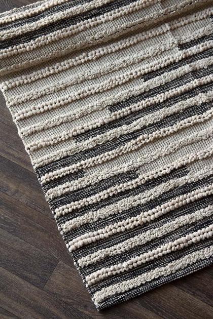 Bengal Black & Natural Cotton Rug